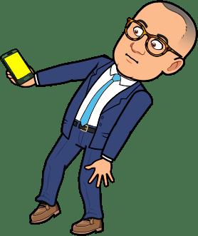 President Bullock holding mobile phone